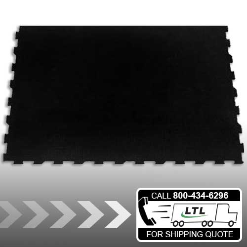 6' Flat-Sided - 4' x 6' Interlocking Rubber Mat