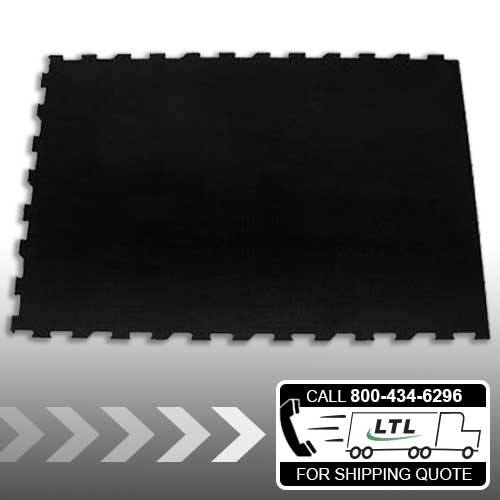 4' Flat-Sided - 4' x 6' Interlocking Rubber Mat
