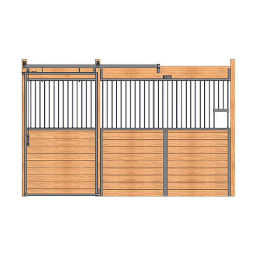 Essex Standard Stall Front with Grill Top Door & Feed Opening
