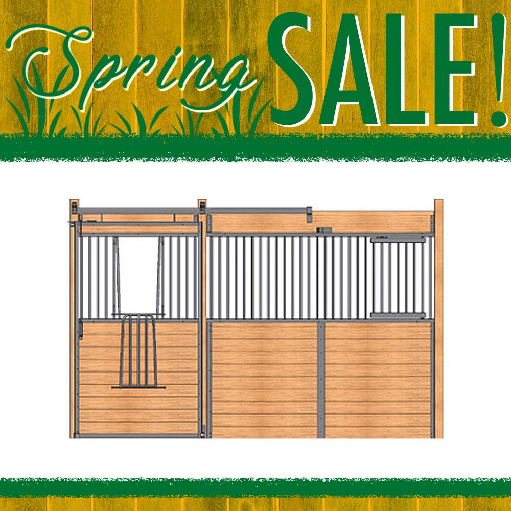 Essex Standard Stall Front with V-Door & Feed Door