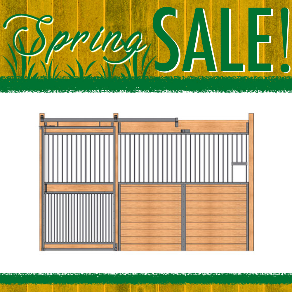 Essex Standard Stall Front with Full Grill Door & Feed Opening