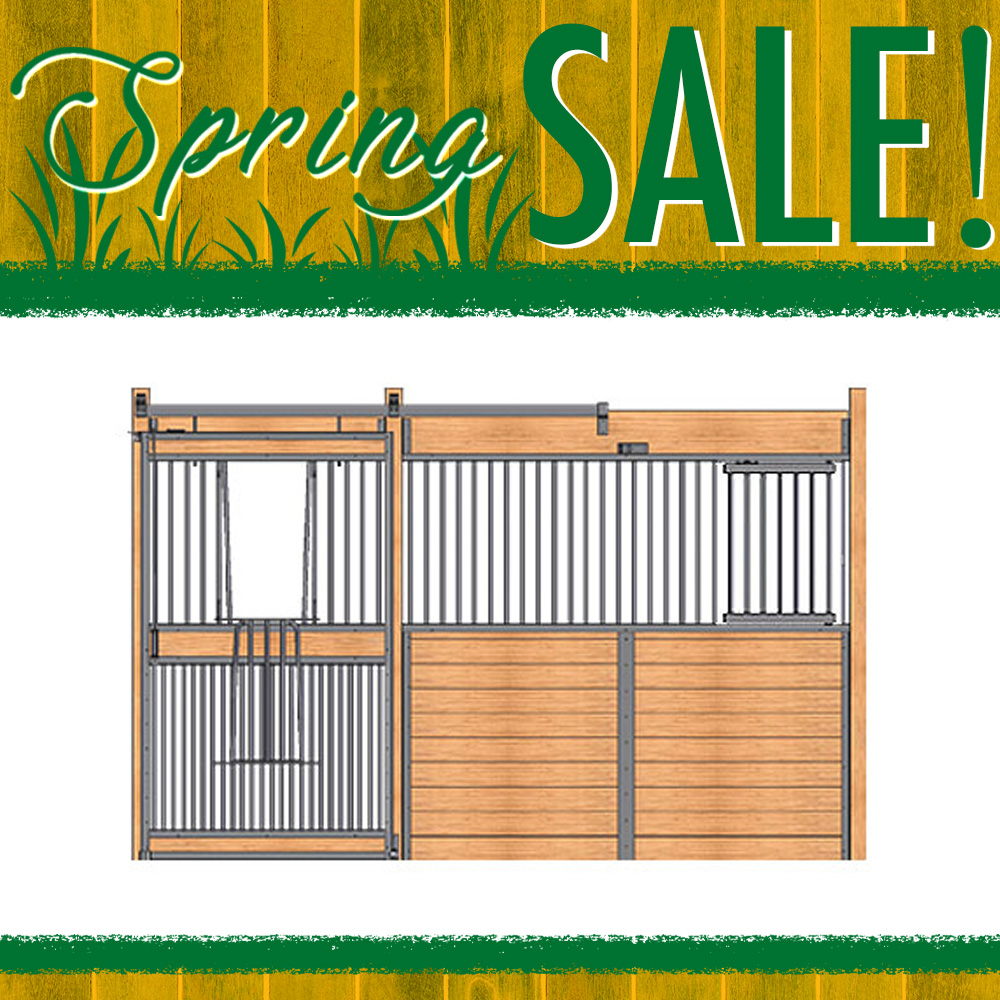 Essex Standard Stall Front with Full Grill V-Door & Feed Door