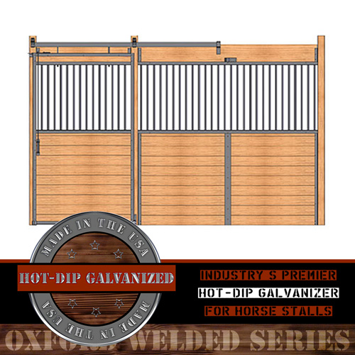 Oxford Welded Stall Front with Grill Top Door