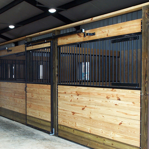 Oxford Horse Stall Front With Feed Door Amp Grill Top Door