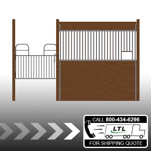 Oxford Welded Stall Front with Half Swing Gate & Feed Opening Kit