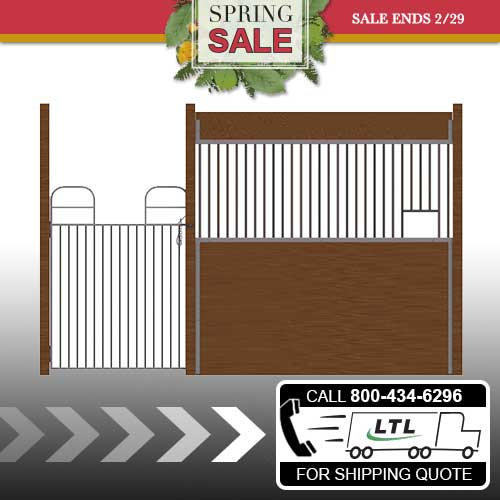 Oxford Welded Stall Front with Full Swing Gate & Feed Opening Kit