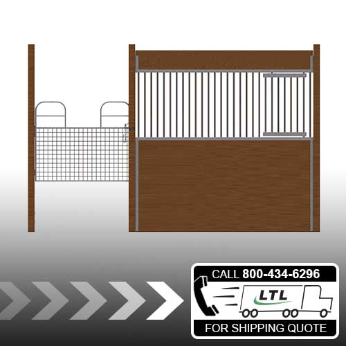 Oxford Welded Stall Front with Half Mesh Swing Gate & Feed Door Kit