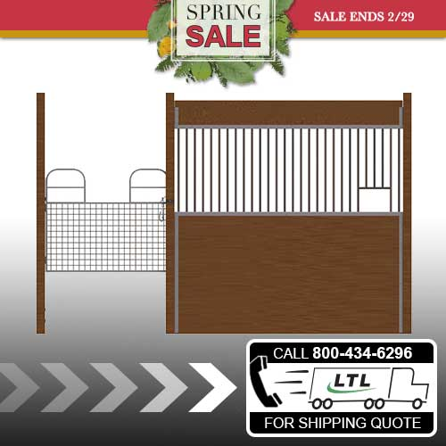 Oxford Welded Stall Front with Half Mesh Swing Gate & Feed Opening Kit