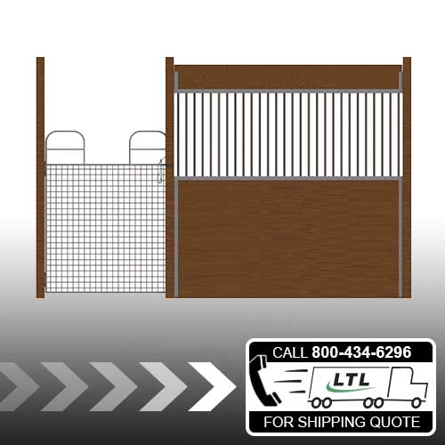Oxford Welded Stall Front with Full Mesh Swing Gate Kit