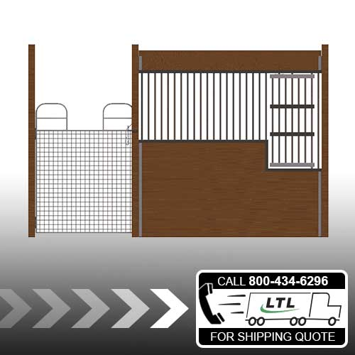 Oxford Welded Stall Front with Full Mesh Swing Gate & Large Feed Door Kit