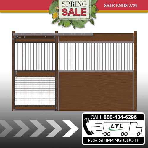 Oxford Welded Stall Front with Grill Top, Mesh Bottom Door Kit