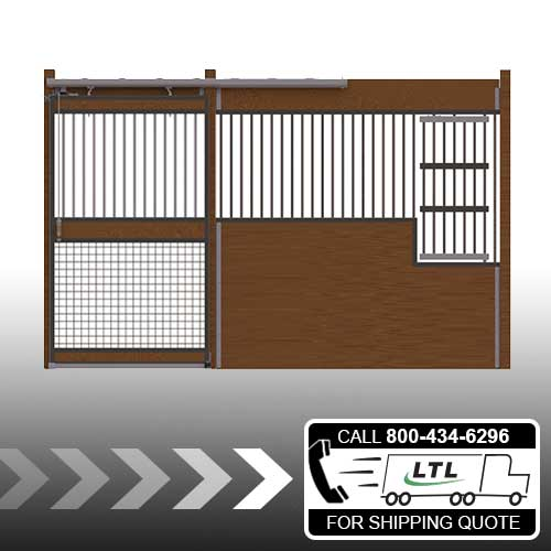 Oxford Welded Stall Front with Grill Top, Mesh Bottom Door & Large Feed Door Kit