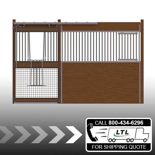 Oxford Welded Stall Front with Mesh Bottom V-Door & Feed Door Kit