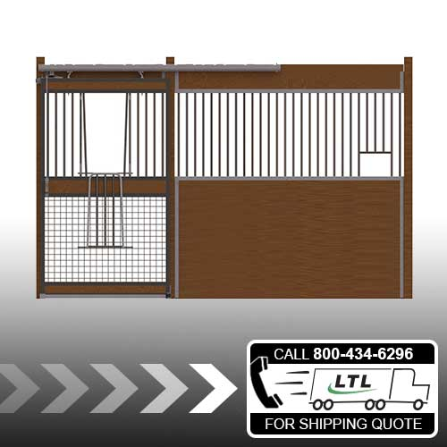 Oxford Welded Stall Front with Mesh Bottom V-Door & Feed Opening Kit