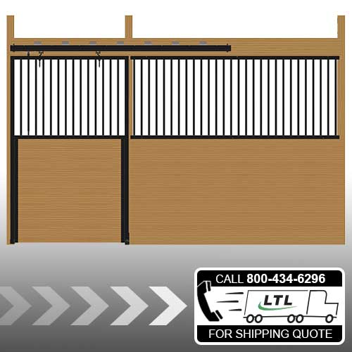 Cambridge Stall Front with Grill Top Door Kit