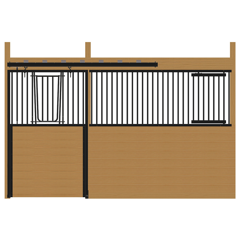 Cambridge Stall Front with V-Door & Feed Door Kit