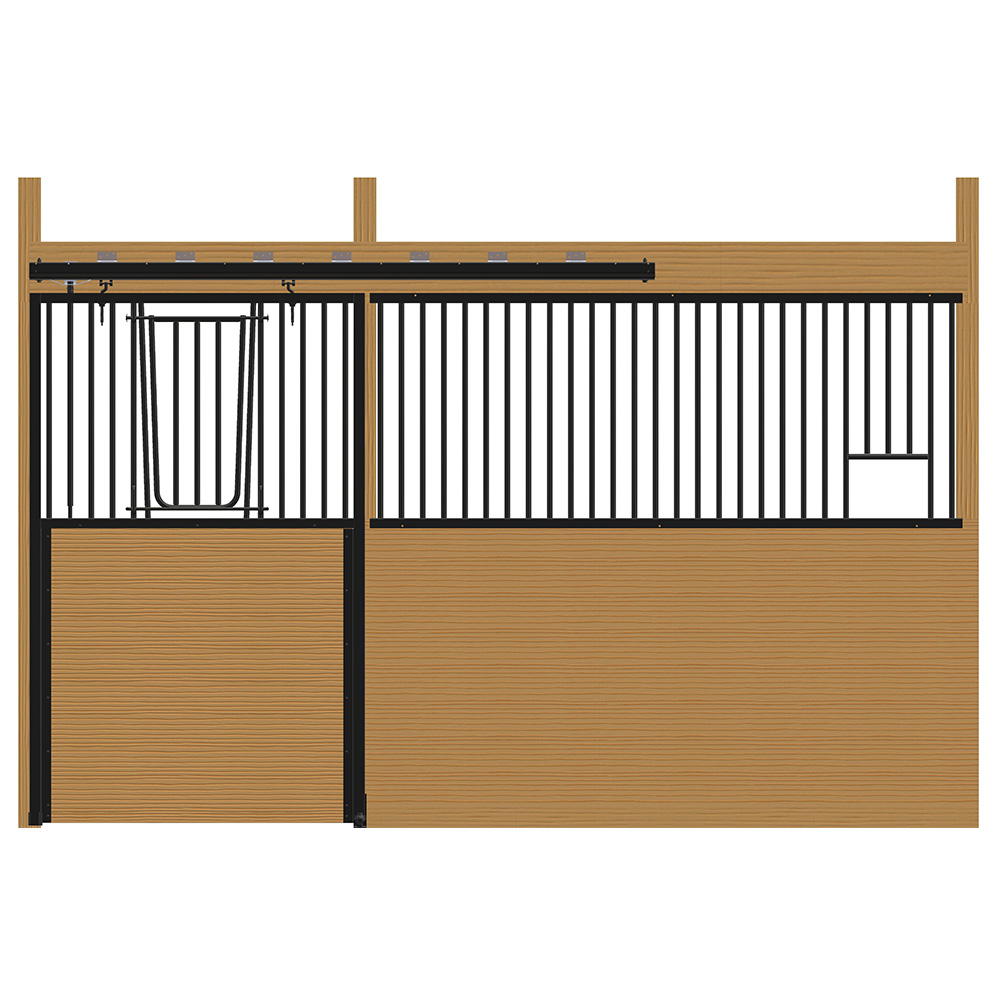 Cambridge Stall Front with V-Door & Feed Opening Kit