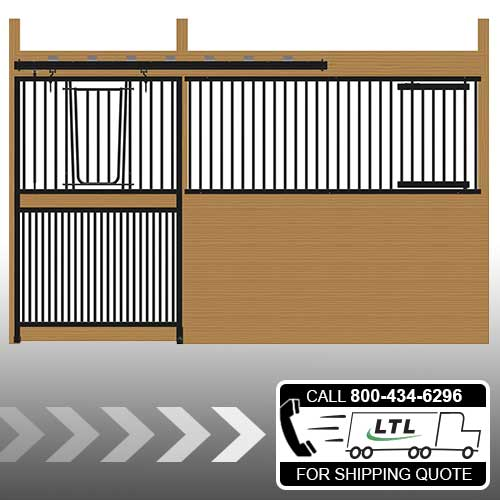Cambridge Stall Front with Full Grill V-Door & Feed Door Kit