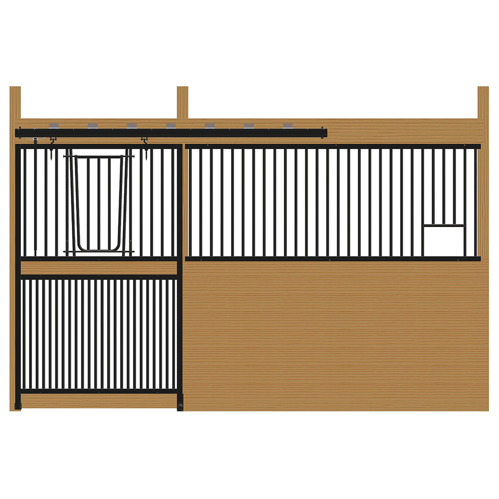 Cambridge Stall Front with Full Grill V-Door & Feed Opening Kit