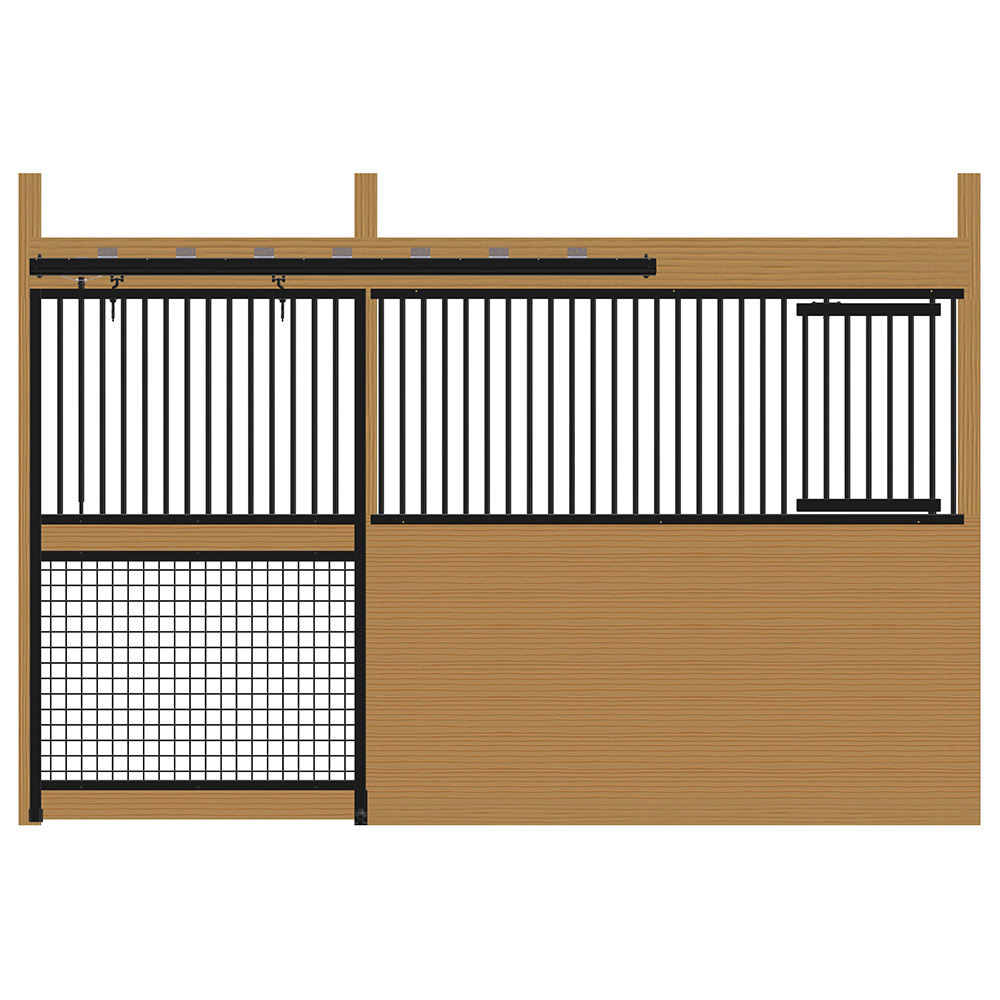 Cambridge Stall Front with Grill Top Mesh Bottom Door & Feed Door Kit