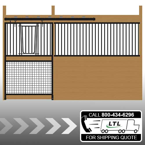 Cambridge Stall Front with Grill Top Mesh Bottom V-Door Kit