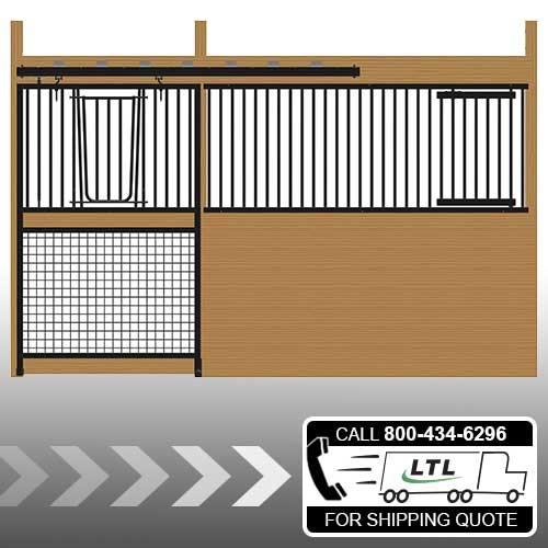Cambridge Stall Front with Grill Top Mesh Bottom V-Door & Feed Door Kit