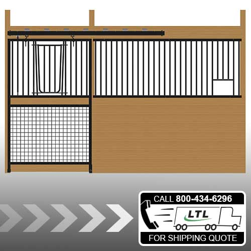 Cambridge Stall Front with Grill Top Mesh Bottom V-Door & Feed Opening Kit