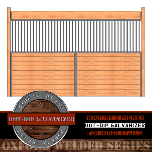 Oxford Welded Stall Grilled Partition