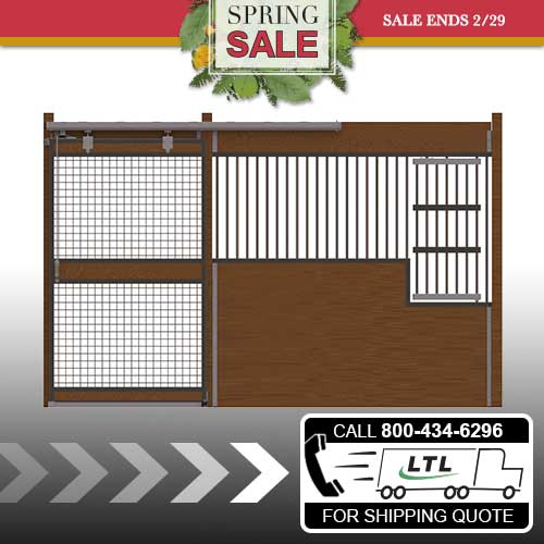 Oxford Welded Stall Front with Full Mesh Door & Large Feed Door Kit
